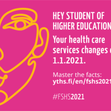 Description of the changes in health care services for students from 2021